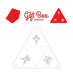 Triangle gift box vector