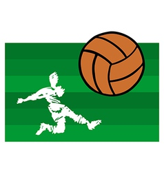 soccer players big shot vector image