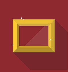 Golden frame in flat style vector