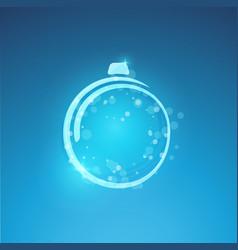 christmas card with glowing christmas vector image
