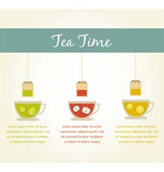 Tea time fruit tea infographics vector