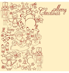 Christmas decorative collection merry christmas vector