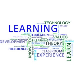 Word cloud learning vector