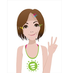 Smiling girl vector