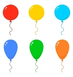 Icon Set Balloons vector image
