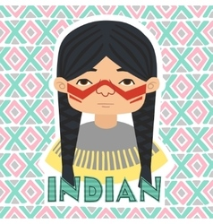 Indians man vector