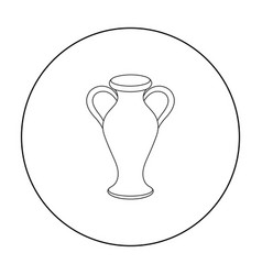 Amphora icon in outline style isolated on white vector