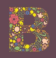B letter color variant vector