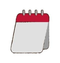 Calendar love valentine day celebration sketch vector