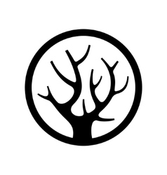 Decorative Simple Tree Logo in the Circle vector image