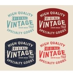 Denim vintage stamp vector