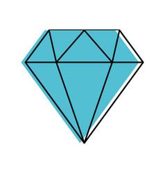 diamond figure isolated icon vector image
