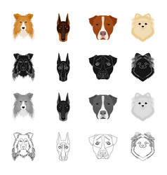 Dog animal home and other web icon in cartoon vector