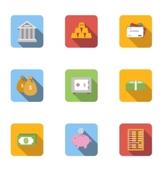 Finance icons set flat style vector image vector image