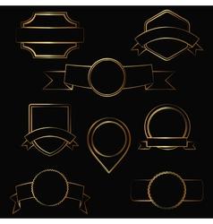 gold contour labels vector image vector image