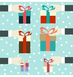 Hand with a gift vector image