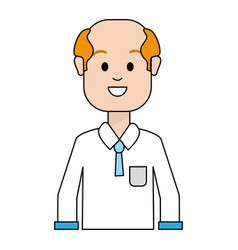 Happy man with hairstyle and shirt vector