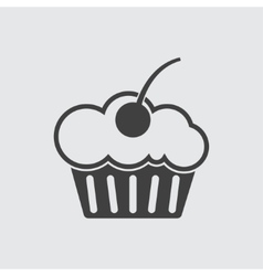 Muffin cake icon vector
