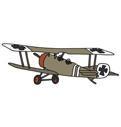 Old germany militarybiplane vector