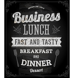 Restaurant Poster on Chalk Board vector image