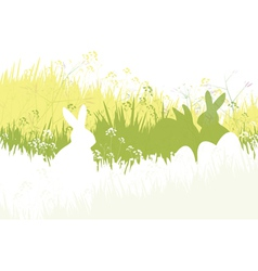 spring easter background vector image vector image
