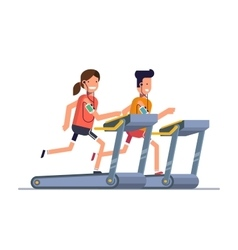The guy with the girl goes in for sports on a vector image vector image