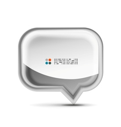white 3d speech bubble concept vector image