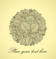 Leafs round vector image