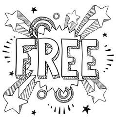 doodle pop free vector image