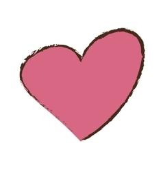 Pink heat love romantic valentine day vector