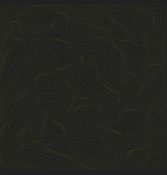 warped parametric net surface background vector image