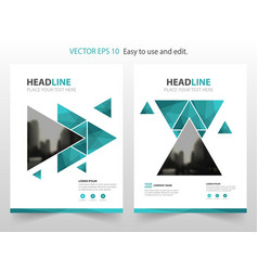 Blue abstract annual report brochure design vector