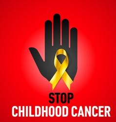 Stop Childhood Cancer sign vector image
