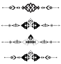 Ottoman motifs design series with thirty vector image