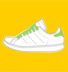 white-green shoe vector image