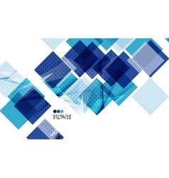 Bright blue geometric modern design template vector image