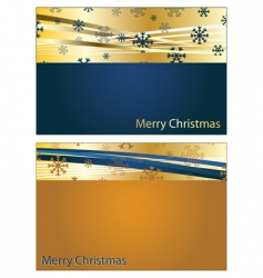 Blue and gold christmas banners vector