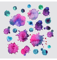 Spray paint watercolor splash backgroundcolorful vector
