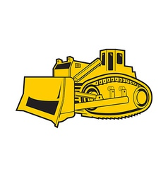 Bulldozer isolated on white background vector