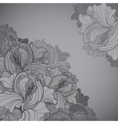 Background with ornament of the grayscale vector