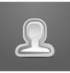 3d white head person concept vector image