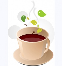 Herbal coffee vector