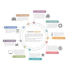 Circle infographics vector