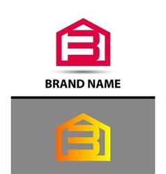 Number 3 logo logotype design with house vector