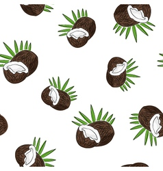 Seamless pattern of coconut vector