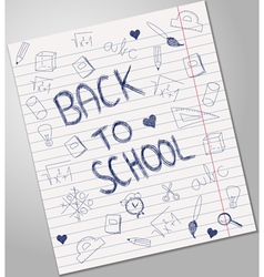 Back to school blue pen ink vector