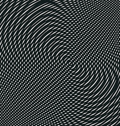 Op art moire pattern relaxing hypnotic background vector