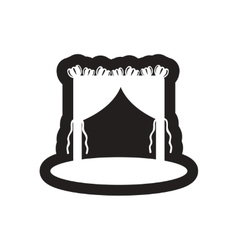 Flat icon in black and white wedding arch vector