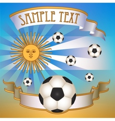 Football poster with argentina flag vector