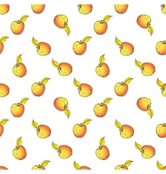 Apple seamless pattern Hand drawn vector image